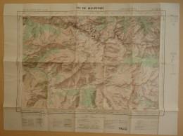 Carte De France Au 50.000è (Type 1922) - Ariège - Pic De Maubermé - Feuille XIX-48 -  1956 - Cartes Topographiques