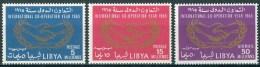 1965 Libia Libya Année De La Coopération Internationale Et 20°Anniversaire Des Nations Unies Set MNH** - Libya