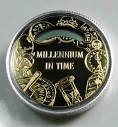 Sao Tome En Principe, 1.000 Dobras, 1998, Millennium Clock, Zilver .925 QP - Santo Tomé Y Príncipe