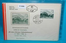 FDC-E3205 40J Volksabstimmung Kärnten, Griffen 1960 - FDC