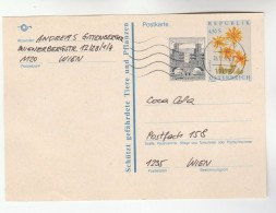 1992 AUSTRIA 4.50+0.50s  UPRATED Postal STATIONERY CARD Stamps Cover Floer Flopwers - Stamped Stationery