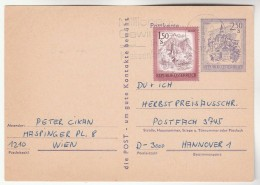 1970S AUSTRIA 1.50s  Stamps On UPRATED 2. 50s Murau  POSTAL STATIONERY CARD To Germany Cover Mountain - Stamped Stationery