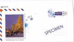 """LAC3B- EP CARTE LETTRE VALIDITE MONDE """"DECORATIONS FROM FRANCE"""" SURCH. SPECIMEN - Specimen"""