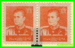 IRÁN  ( ASIA )  PAREJA  SELLOS  DE  SHAH PAHLAVI AÑO 1958 - Iran