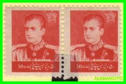 IRÁN  ( ASIA )  PAREJA  SELLOS  DE  SHAH PAHLAVI AÑO 1958  NUEVOS - Irán