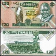 Zambia 20 KWACHA Sign 7 ND (1980-88) P 27e UNC  ZAMBIE - Zambie