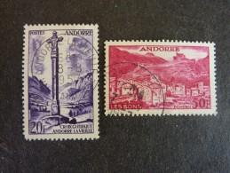 ANDORRE FRANCAIS, Année 1955-58, YT N° 148 Et 152 Oblitérés, Très Légère Trace Charnière