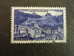 ANDORRE FRANCAIS, Année 1955-58, YT N° 153 Oblitéré (cote 52.50 €)