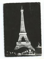CPSM 75 Paris Illumination De La Tour Eiffel EDF Publicité MAZDA Theme électricité - Cartes Postales