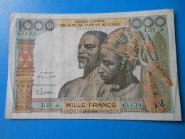 Côte D'Ivoire 1000 Francs 20-3-1961 P.103Ab TTB - Côte D'Ivoire