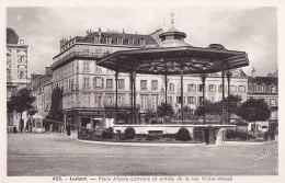 Cpa LORIENT-  Place Alsace Lorraine Et Entrée De La Rue Victor Massé - Lorient