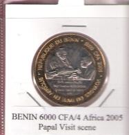 BENIN 6000 CFA 2005 PAPAL VISIT  UNC. BIMETAL NOT IN KM - Benin