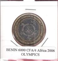 BENIN 6000 CFA 2006 OLYMPICS  UNC. BIMETAL NOT IN KM - Benin