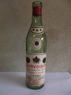 Ancienne Demie Bouteille Vide Cognac COURVOISIER 3 étoiles Des Années 1950 - Spirits