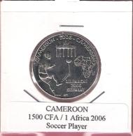 CAMEROON 1500 CFA 2006 SOCCER UNC NOT IN KM - Cameroun