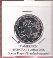 CAMEROON 1500 CFA 2006 SOCCER (BRANDENBURGER GATE) UNC NOT IN KM - Cameroun