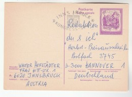 1976 AUSTRIA 4s Almsee POSTAL STATIONERY CARD SLOGAN Pmk INNSBRUCK  KONGRESS STADT To Germany Cover Mountain - Stamped Stationery