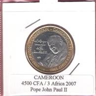 CAMEROON 4500 CFA 2007 POPE JOHN PAUL II BIMETAL UNC NOT IN KM - Cameroun