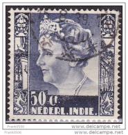 Netherlands Indies 1934, Queen Wilhelmina, 50c,  Used - Indes Néerlandaises