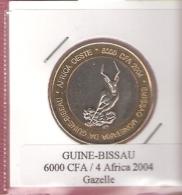 GUINEA BISSAU 6000 CFA 2004 GAZELLE BIMETAL UNC NOT IN KM - Guinea Bissau