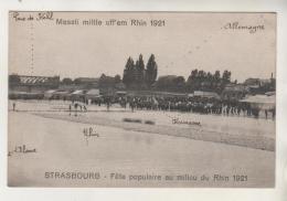 STRASBOURG - Fête Populaire Au Milieu Du Rhin En 1921 - Strasbourg