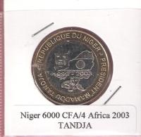NIGER 6000 CFA 2003 TANDJA BIMETAL UNC NOT IN KM - Niger