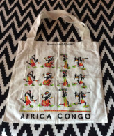 Sac Coton , Souvenir Voyage De La Republique Du Congo (Brazza), Etat Neuf.  3 Photos - Purses & Bags