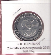 SUDAN SOUTH 20 POUNDS 2011 WITH FLAG UNC NOT IN KM - Soudan