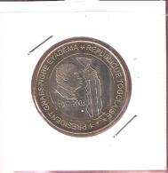 TOGO 6000 CFA 2003 PRESIDENT EYADEMA BIMETAL UNC NOT IN KM - Togo