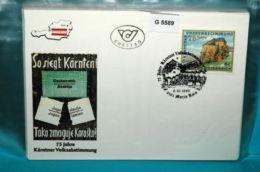 FDC-G5589 75J Kärntner Volksabstimmung, Hollenburg, SSt. Maria Rain, AT 1995 - FDC