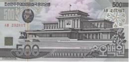 (B0504) NORTH KOREA, 1998. 500 Won. P-44. UNC - Corea Del Nord