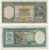 Grecia - Greece 1.000 Dracmas 1939 Pick 110.a Ref 542 - Grecia