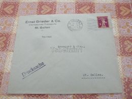 St. Gallen Ernst Grieder & Co. International Transporte Drucksache Switzerland Kuvert Envelope - Non Classés