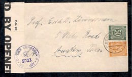 Germany1947: British Censored Cover To Professor In USA - Zone AAS