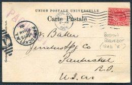 1906 Azores Postcard GB Boston Mass. PAQUEBOT - Pawtucket R.I. - United States