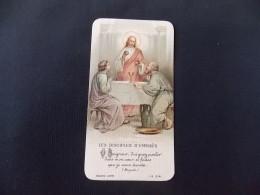Image Pieuse Religieuse LR 514 Souvenir Communion Eglise Saint Paul De Pont Rousseau Jeannine Charbonnier - Devotion Images