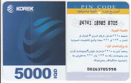 KURDISTAN(North IRAQ) - Korek Telecom Mini Prepaid Card 5000 IQD(right), Used - Telefoonkaarten