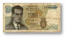 BELGIUM - 20 Francs - 15.06.1964 - P 138 - Sign. 20 - Prefix 3 U - King Baudouin I - BELGIE BELGIQUE - 2 Scans - [ 6] Treasury