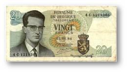 BELGIUM - 20 Francs - 15.06.1964 - P 138 - Sign. 20 - Prefix 4 C - King Baudouin I - BELGIE BELGIQUE - 2 Scans - [ 6] Tesoreria