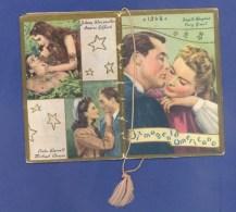 "CALENDRIER JIRMAMENTO AMERICANO ""ACTEURS - HOLLYWOOD""- PETIT CALENDRIER ILLUSTRE NOMBREUX ARTISTES - 1948 - (6 X 9 Cm). - Calendars"