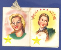 "CALENDRIER  PROFUMI - ABBIGLIAMENTO - ""ACTRICES""- PETIT CALENDRIER ILLUSTRE NOMBREUX ARTISTES - 1955 - (7 X 9 Cm). - Calendars"