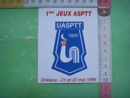 2) 1 Ers Jeux Asptt : Uasptt :orleans 21 Et 22 Mai 1994 - Adesivi
