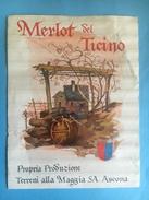 1476 - Suisse Tessin Merlot Del Ticino Terreni Alla Maggia Ascona - Etiquettes