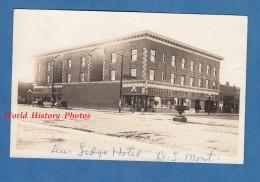 CPA Photo RPPC - DEER LODGE , Montana - Hotel - TOP RARE - MacPherson Shop - Etats-Unis