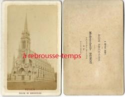 CDV  Rouen-Eglise De Bonsecours-dos Intéressant-vendu Par Mademoiselle Buhot Articles De Piété Et De Bijouterie - Photos