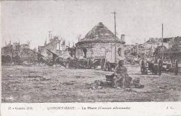 Cpa Longwy Haut 54 - La Place - Canons Allemands - CM Prévoté 18e CA 1915 - Guerre 1914 1918 - Guerre 1914-18
