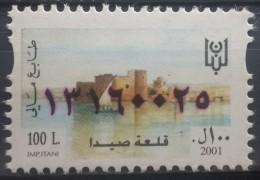 Lebanon 2001 Fiscal Revenue Stamp 100 L - MNH - Fortress Of Saida - Lebanon