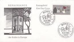 """EUROPA, CEPT-Mitläufer: BRD 1084, FDC, Europäische Denkmalschutzkampagne """"Renaissance Der Städte"""", 1981 - Europa-CEPT"""