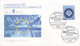 EUROPA, CEPT-Mitläufer: BERLIN 721 FDC, Konferenz Der Europäischen Kulturminister 1984 - Europa-CEPT