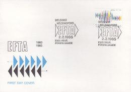 EUROPA, CEPT-Mitläufer: FINNLAND 954 FDC,  25 Jahre Europäische Freihandelszone (EFTA), 1985 - Europa-CEPT